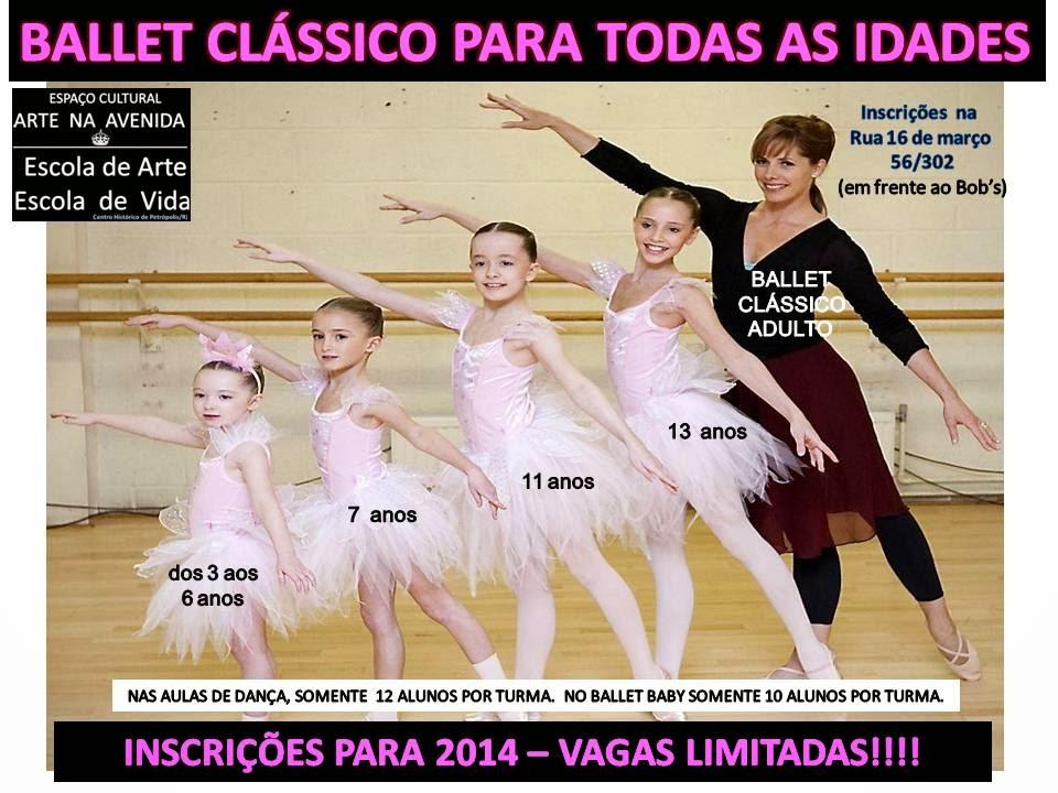 AULAS DE BALLET PARA TODAS AS IDADES!