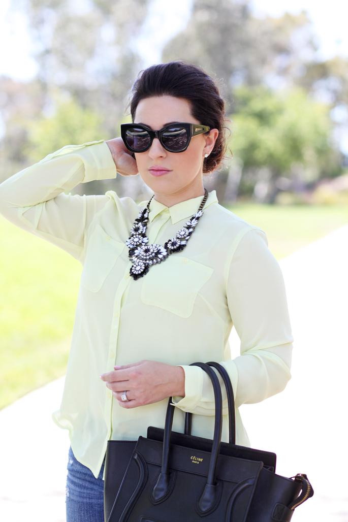 loft-neon-blouse-le-tote-black-and-white-statement-necklace-karen-walker-northern-lights-sunglasses-king-and-kind-blog
