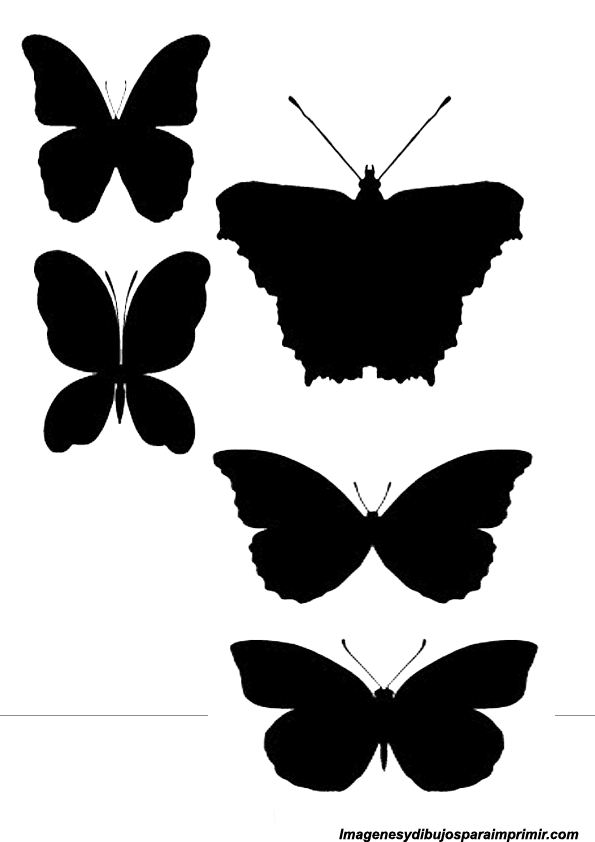 Silhouettes of animals for printing
