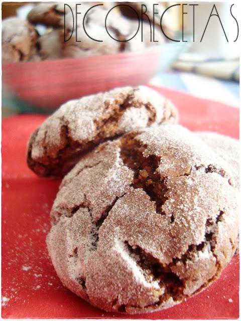 Crinkles de chocolate para regalar...