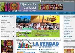 CONEXION CON LA PÁGINA WEB DE LAS HIJAS DE LA CARIDAD