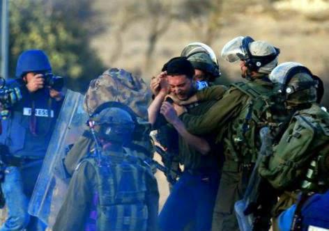 Tropas da ocupação israelense e sua covardia