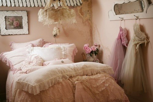 ... ballerina prints on the wall and maybe curtains made out of tulle