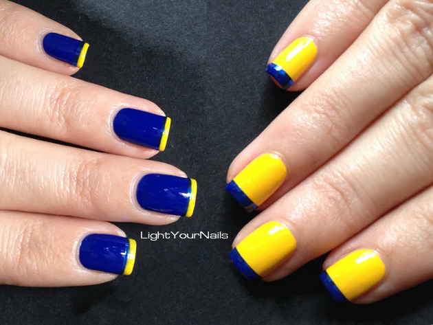 Minion's nails with Kiko Power Pro 31 Giallo and 39 Blu Cobalto