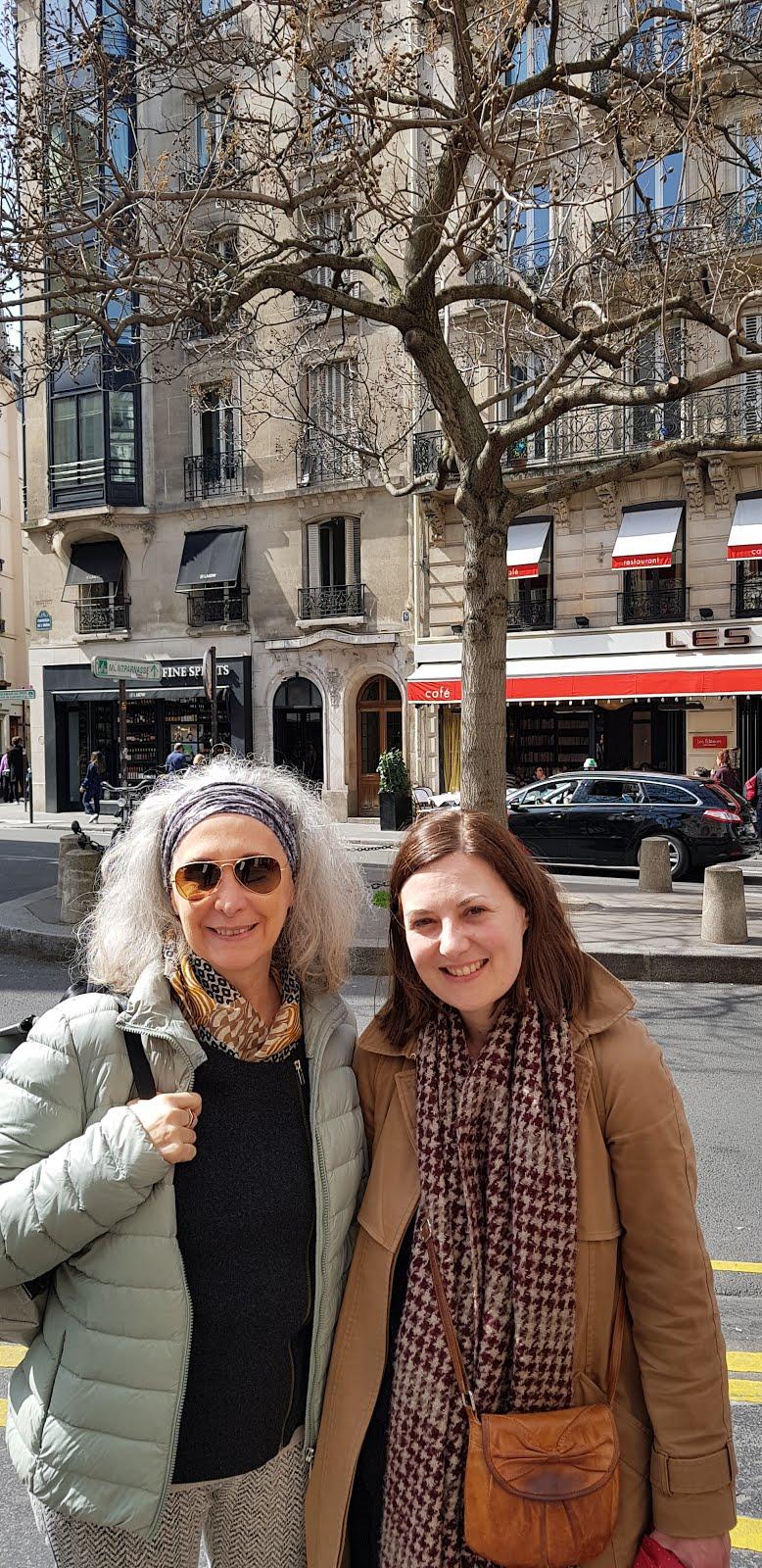 Com Marie (do grupo Francis Ponge) em Paris, 2018
