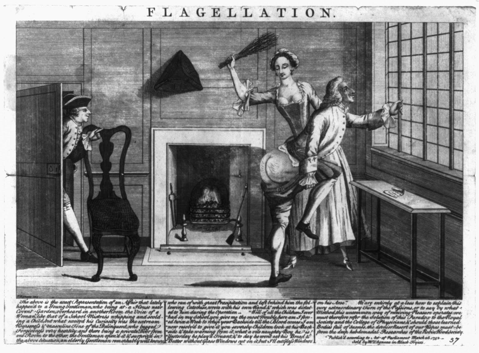 flagelacion erotica bdsm spanking azotes grabado 1752