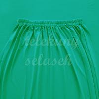 Telekung lycra hijau turquoise bahagian pinggang