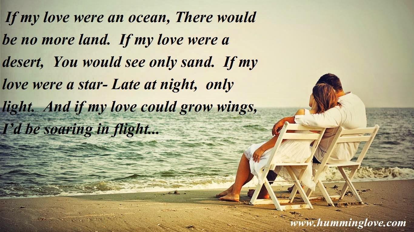 If my love were an ocean
