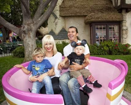 Gwen Stefani e Gavin Rossdale - Os 60 anos da Disney Land