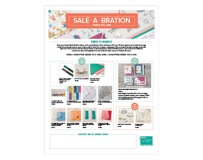 FREE !!!!     MORE FREE ITEMS ADDED TO THE SALE A BRATION PROMOTION FROM THE CURRENT CATALOGUES