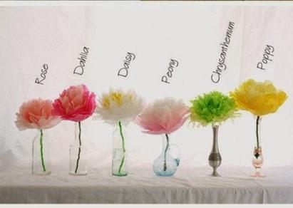 Flower pom-poms paper