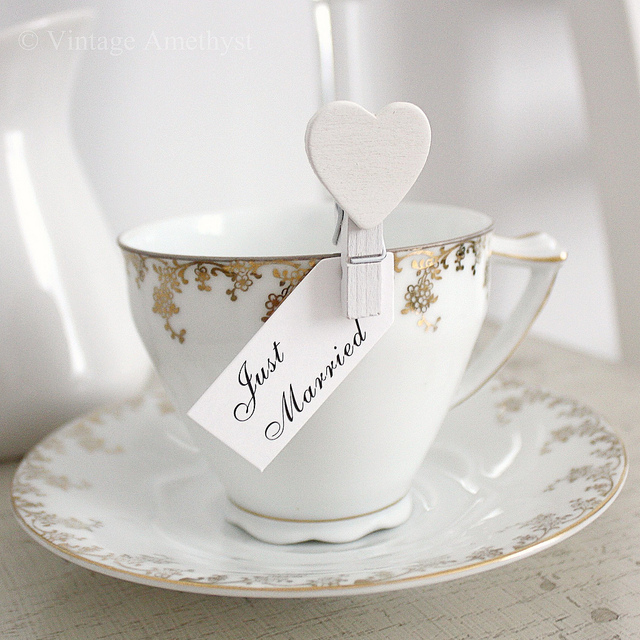 Such adorable little painted white pegs with cute hearts perfect for wedding