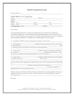 Parents' Perspective Survey