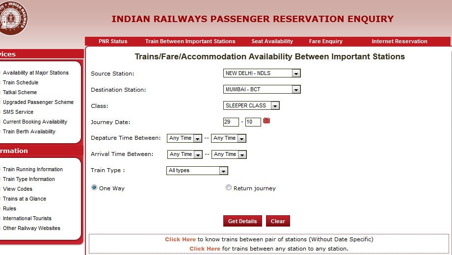 Indian Railways Ticket Booking