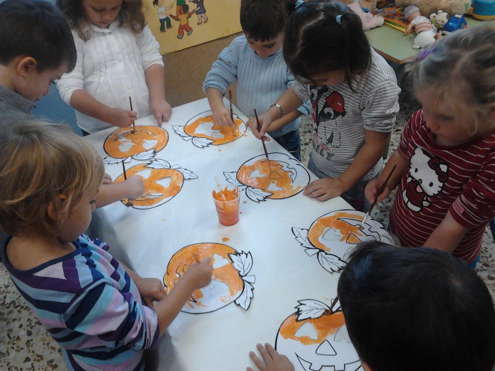 Cometa azul halloween en el aula de tres a os for Actividades para el salon