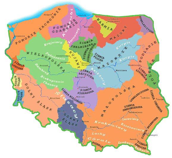 Regiony historyczne Polski