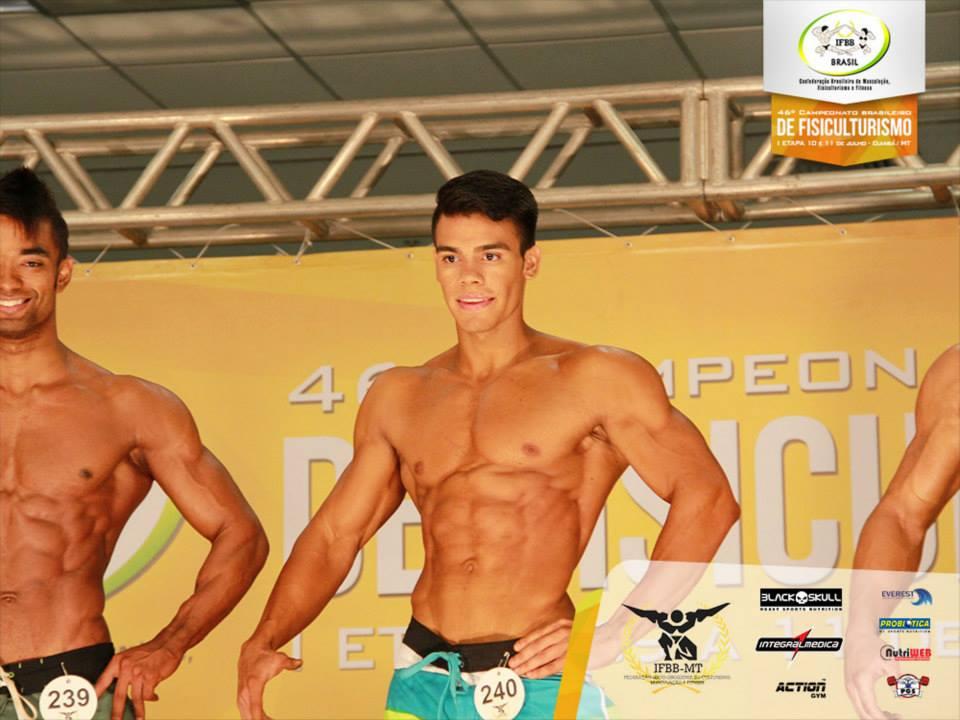 Tercio competiu na categoria Men's Physique acima de 1,78 m. Foto: IFBB Brasil