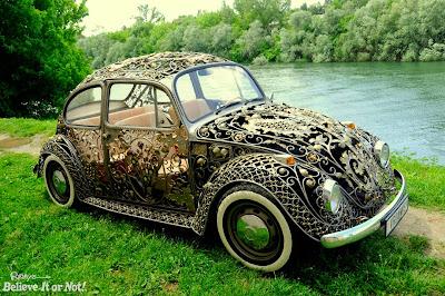 Ένα μοναδικό Volkswagen Beetle από σφυρήλατο σίδηρο