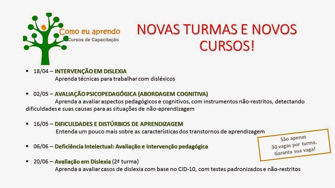 Novos cursos EAD!