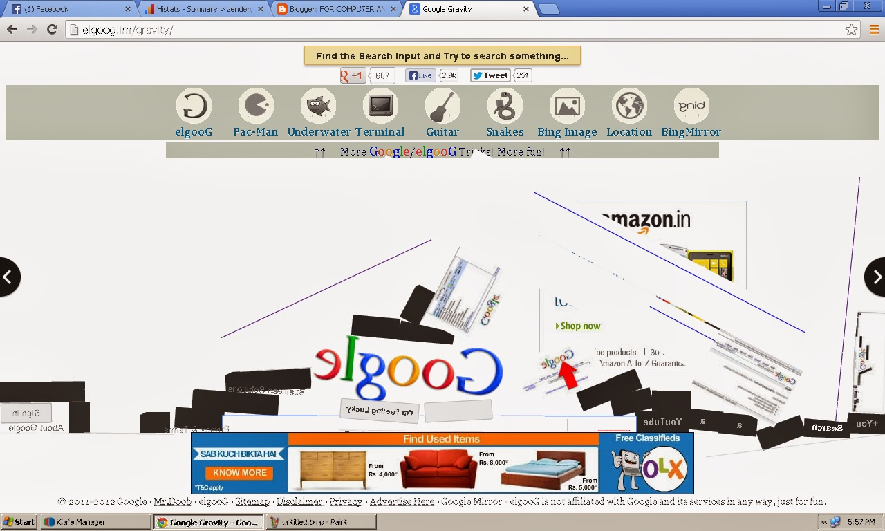 Google gravity theme - Google Gravity Search Engine With Gravity Feel Your Search Result With Gravity