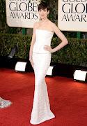 Anne Hathaway in CHANEL dress. Isla Fisher in REEM ACRA dress