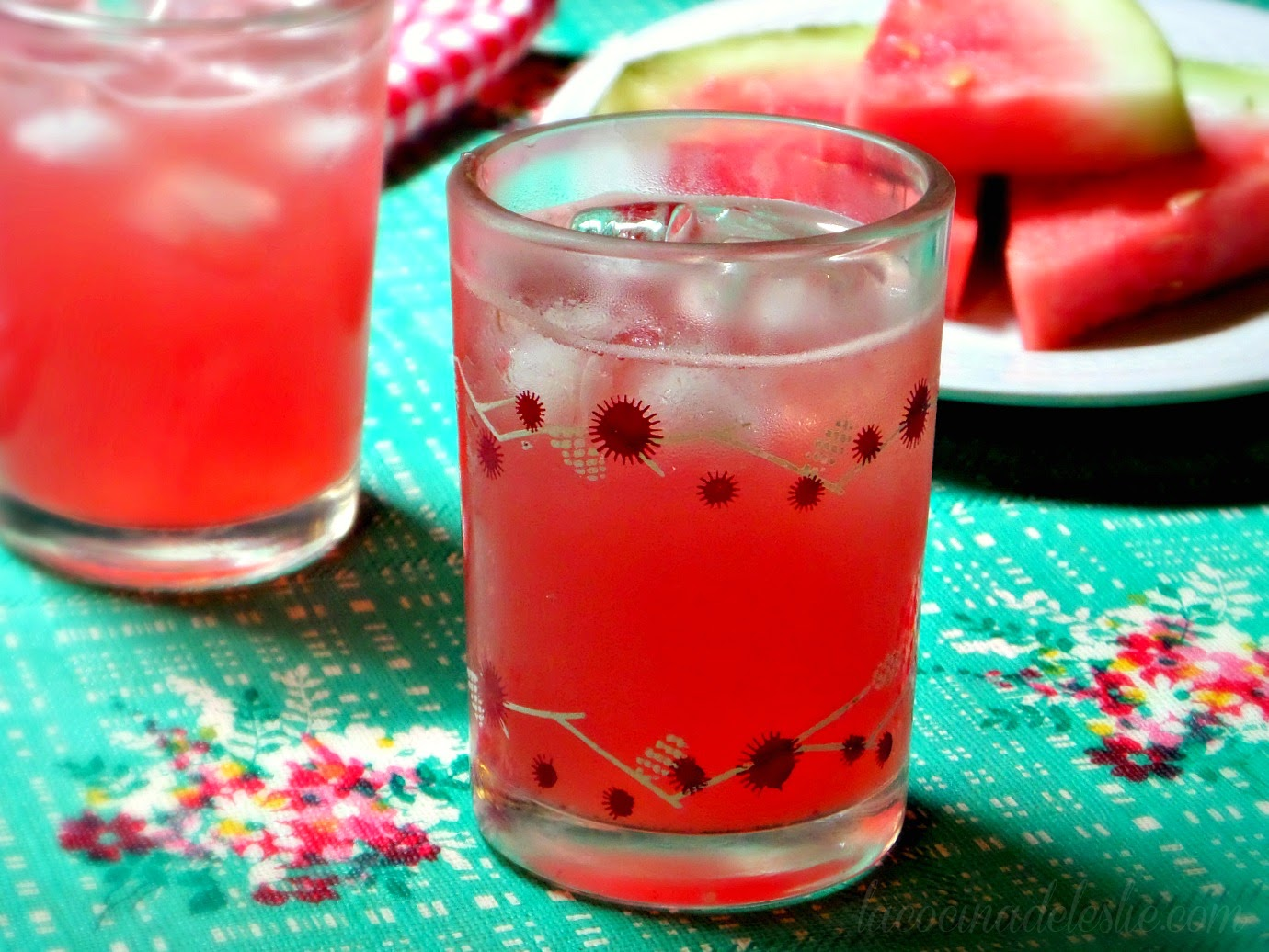 Agua de Sandía recipe - lacocinadeleslie.com