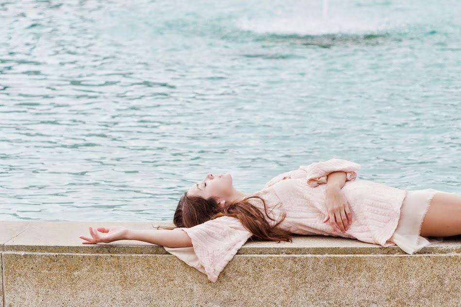 Alyssa Nicole Blush Sequin Kimono Dress and Freda Salvador Heels