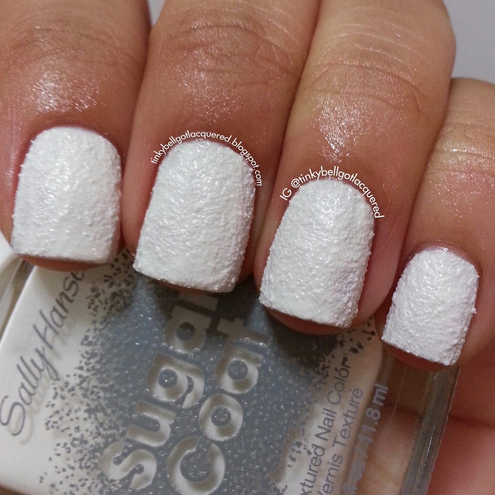 Sugar Fix Is A White Polish That Dries To Textured Finish It S Like Powdered On Your Nails Shown Three Coats With No Top Coat