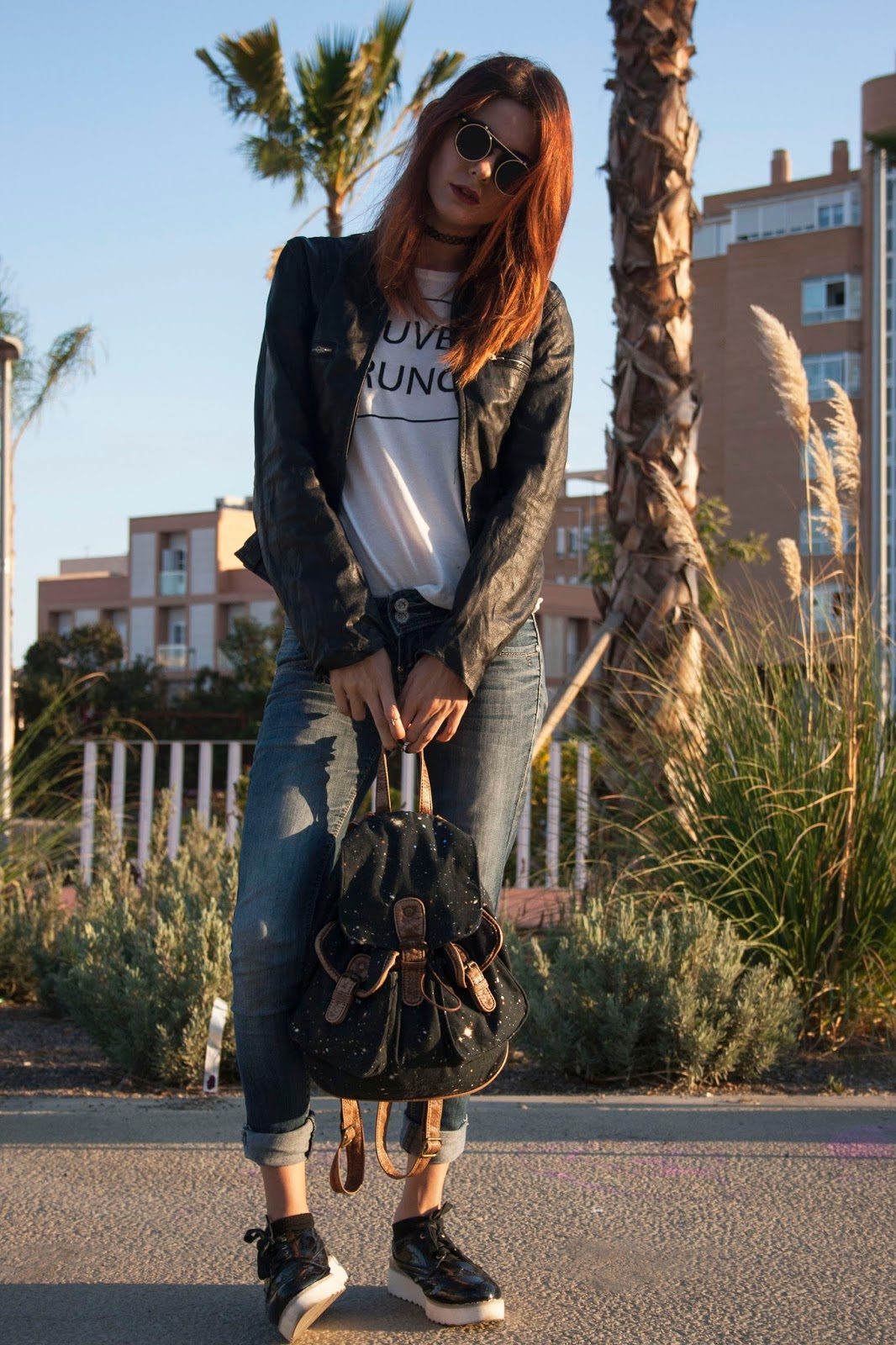grunge-clothing-look-lorraine-blackbird-zara-leather