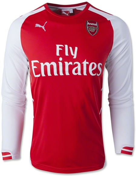 2014-2015 Arsenal Puma Home Long Sleeve Shirt