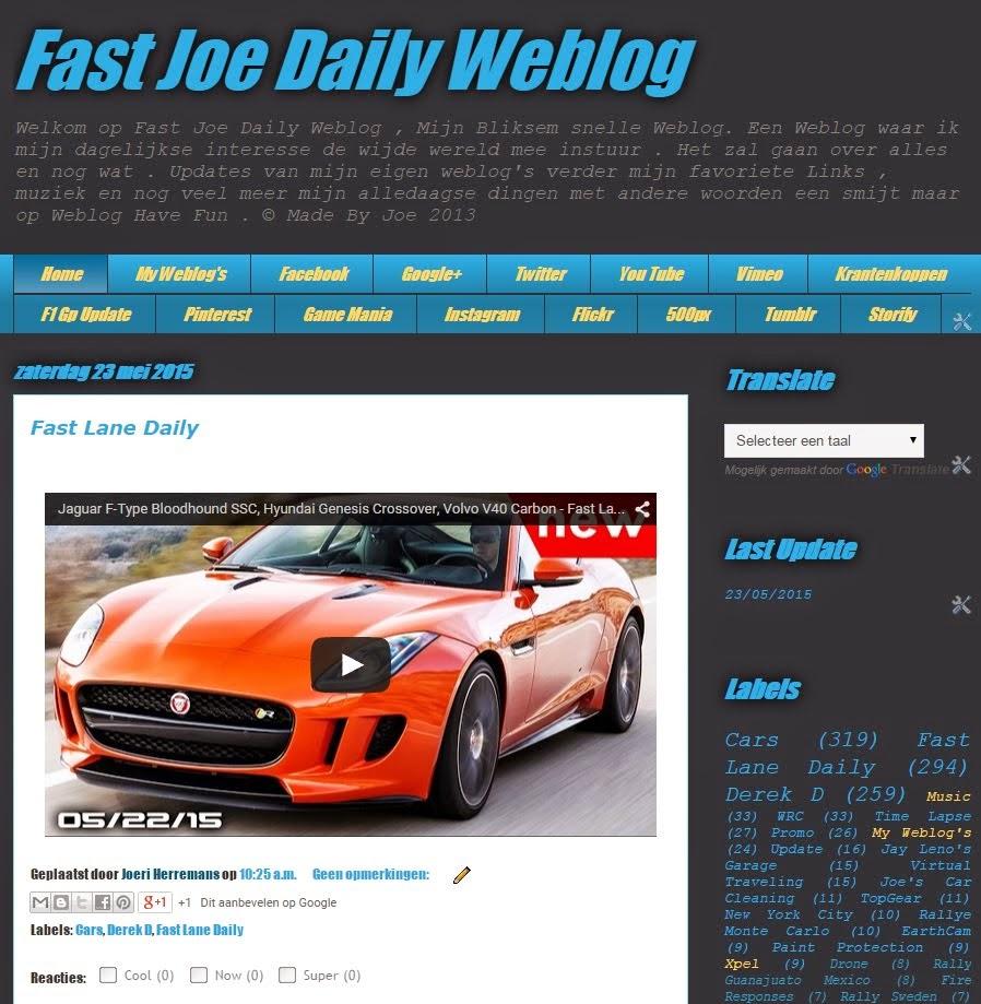 Visit Fast Joe Daily Weblog