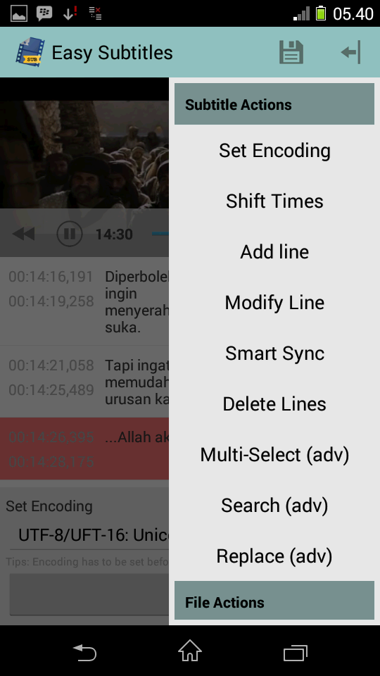 Preview Easy Subtitles | andromin