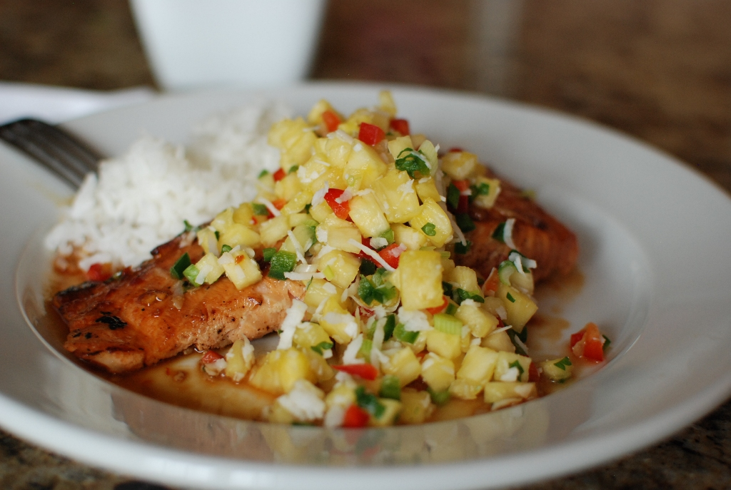 ... So Good: Soy Orange Glazed Grilled Salmon with Fresh Pineapple Salsa