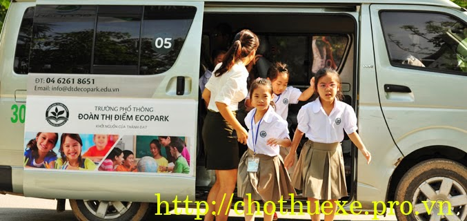 Cho thuê xe đưa đón học sinh tại Hà Nội