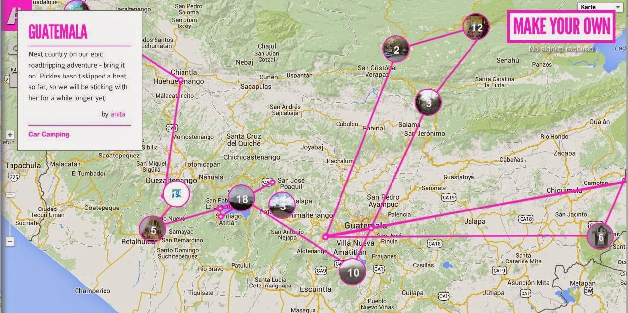 Weltreise Routenplanung für Selbstfahrer mit dem Auto, Motorrad oder Wohnmobil. Welche Sightseeing Hotspots und Sehenswürdigkeiten lohnt es anzusteuern? Wie finde ich diese?