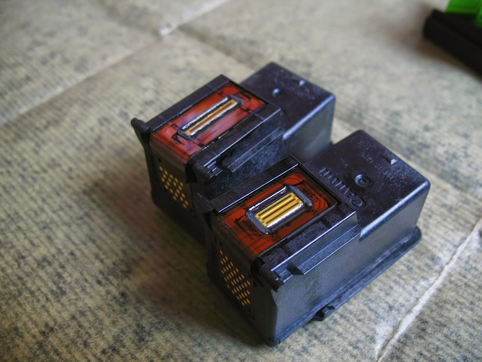 cartuchos de tinta canon y sus inyectores