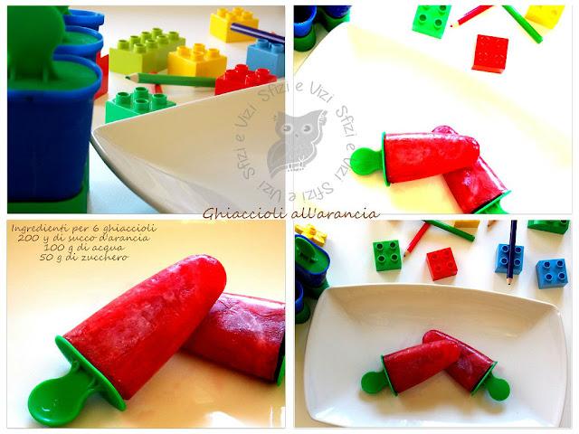merenda con i ghiaccioli alla frutta
