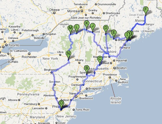 A Less Processed Life Weekend Shenanigans Northeast Road Trip - Road map northeast us