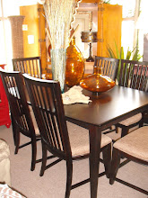 Dark Butterfly Dining Table w/6 Side Chairs