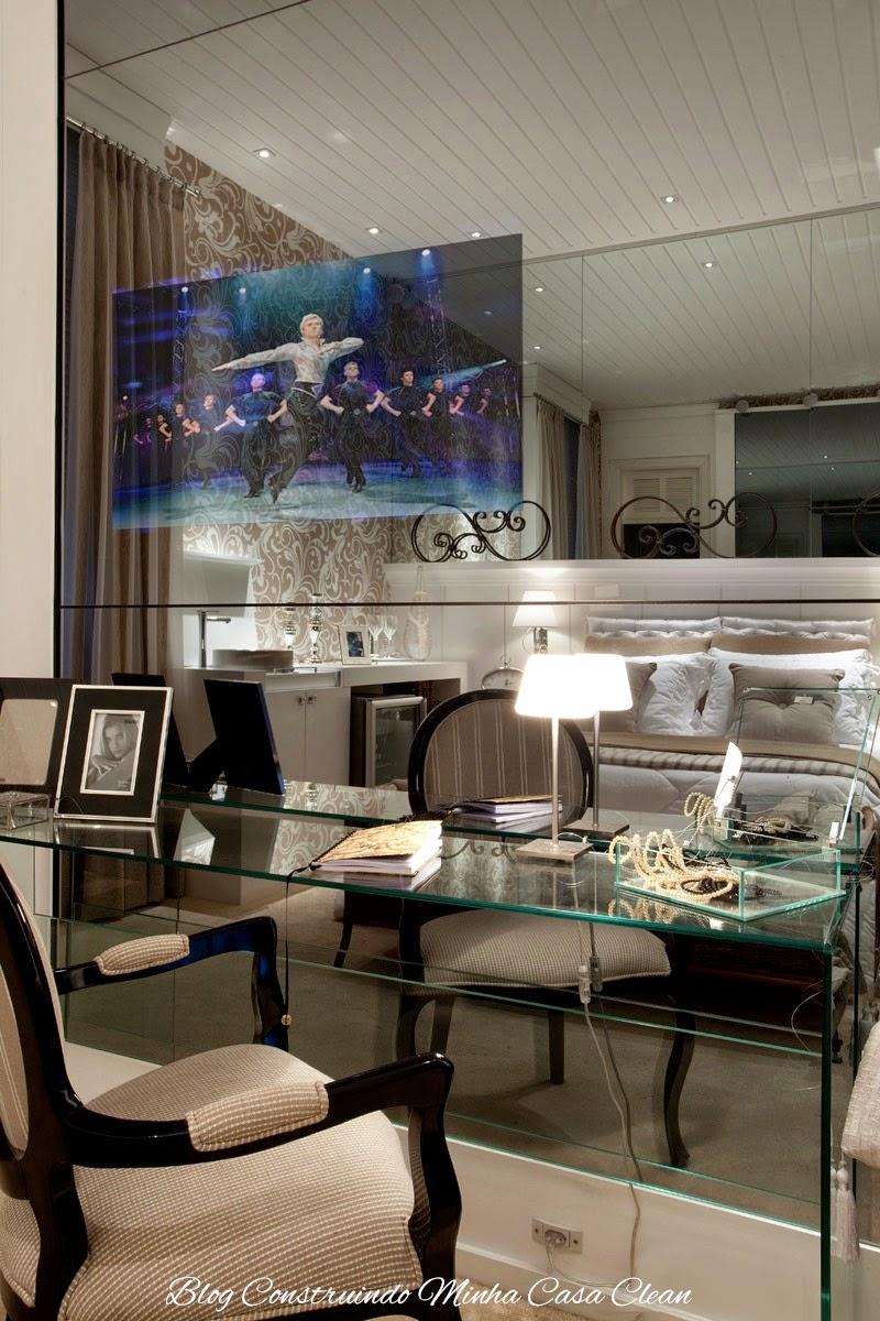 Construindo Minha Casa Clean Tvs Embutida Em Vidros Espelhos E