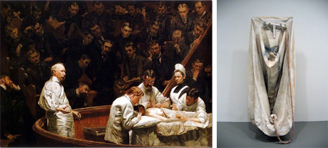 Art Talk - foredrag om kunst. Thomas Eakins: The Agnew Clinic, 1889, og Claes Oldenburg: Soft Bathtub, 1966