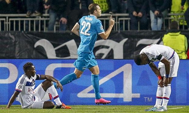 Hasil laga Lyon 0-2 Zenit St Petersburg