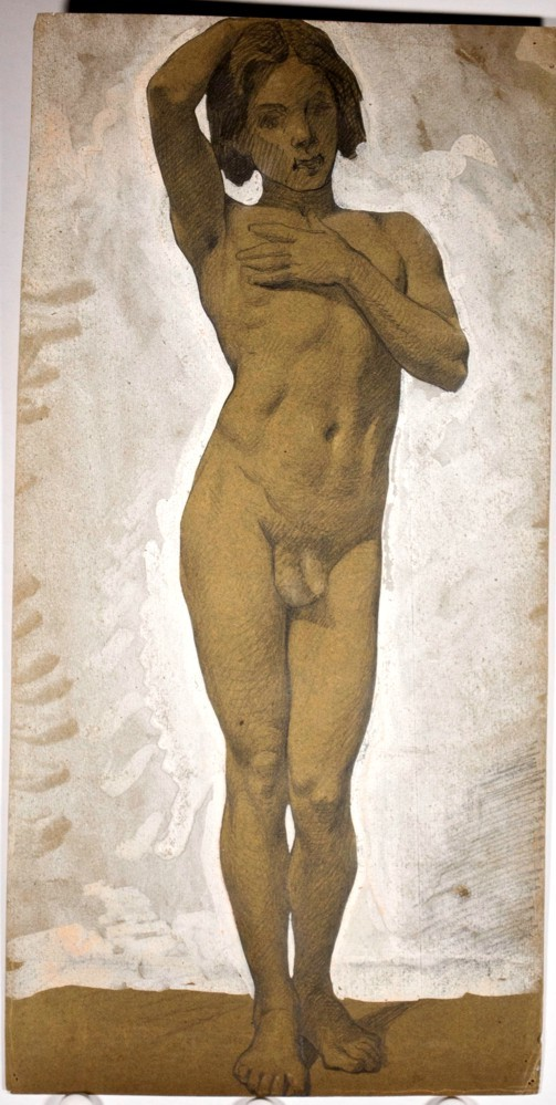 victor rene livache 1872 1944 atelier livache standing nude ephebe
