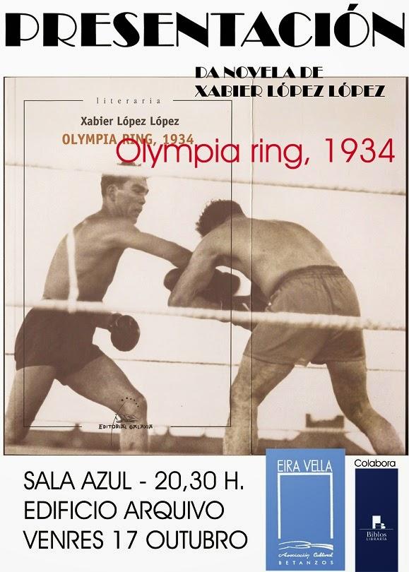Eira Vella presenta Olympia ring 1934 de Xabier L.