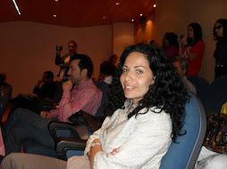 La Jefa de Estudios del IES Cerro del Viento durante el acto Málaga Excelencia Educativa.