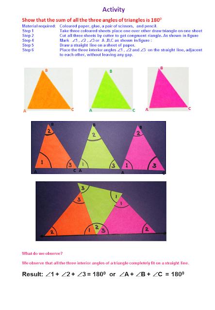Mathematics Village Angle Sum Property Of Triangle