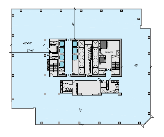 South office building floor plan