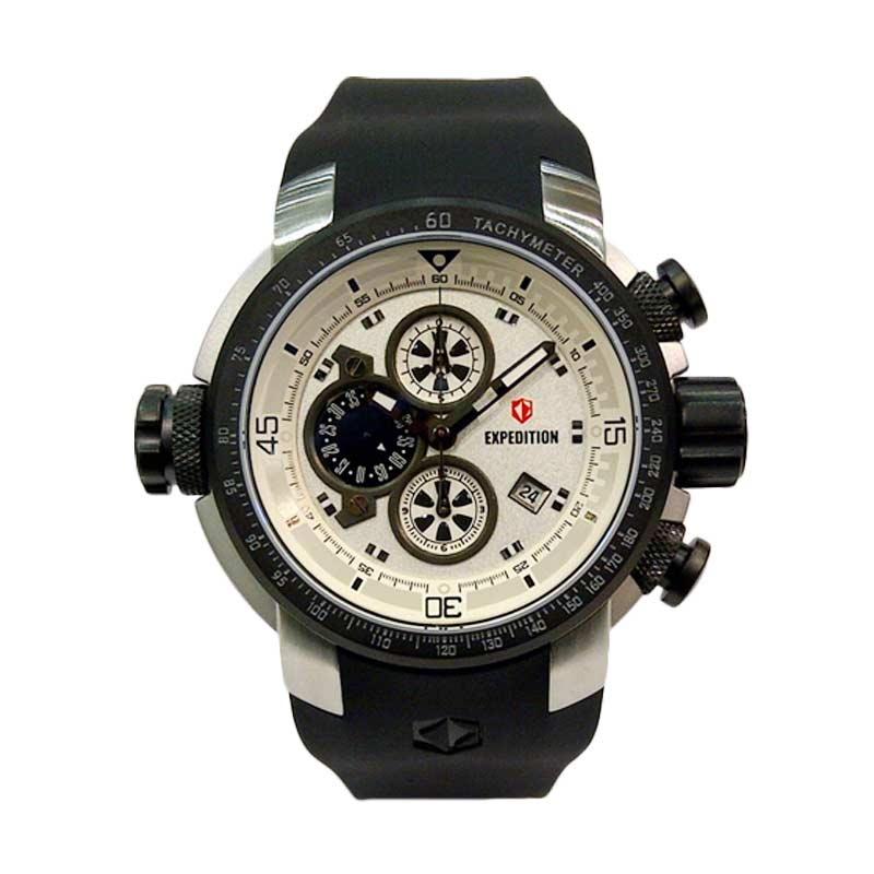 Shelly Shop Jam Tangan Expedition Chronograph 6335 Silver