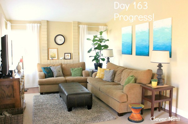 see this blogger's living room evolve from day 1 to day 163!