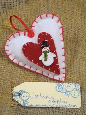 Week ends creativi - Decorazioni natalizie in feltro ...